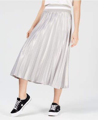Macy's NICOPANDA Pleated Midi Skirt, Created for