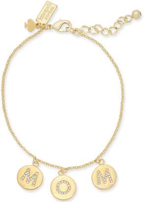 Kate Spade Gold-Tone Pavé Mom Charm Bracelet