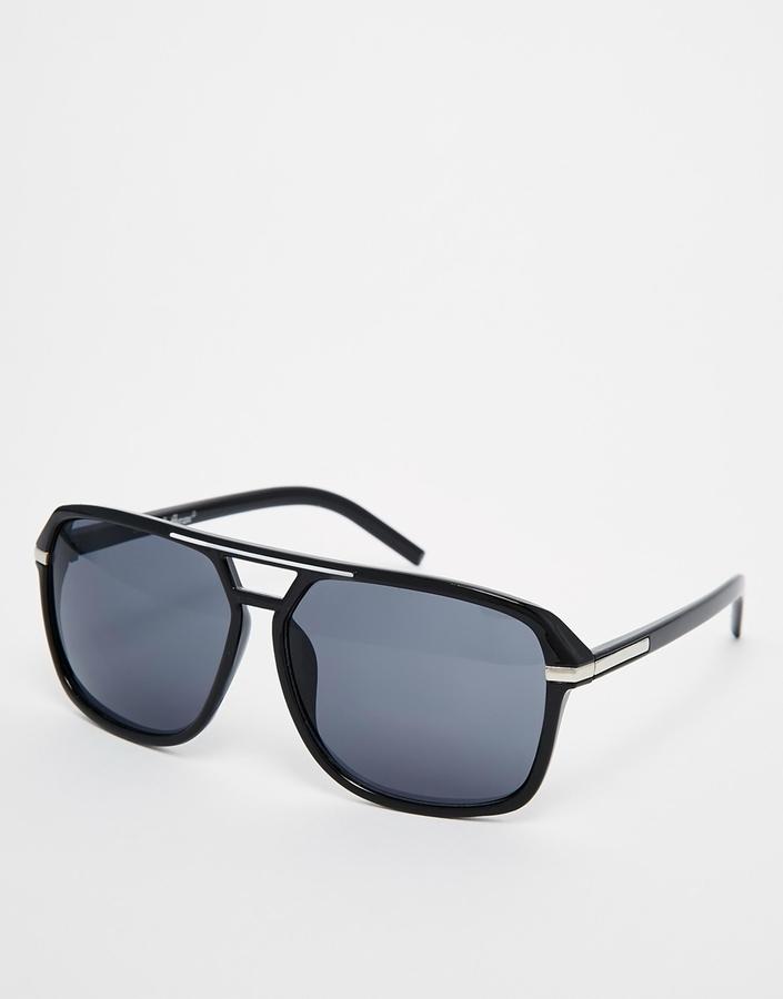 AJ Morgan Aviator Sunglasses - Black