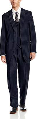Stacy Adams Men's Big-Tall Mars Vested 3 Piece Suit