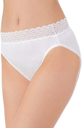 Vanity Fair Women's Flattering Lace Cotton Stretch Hi Cut Panty 13395