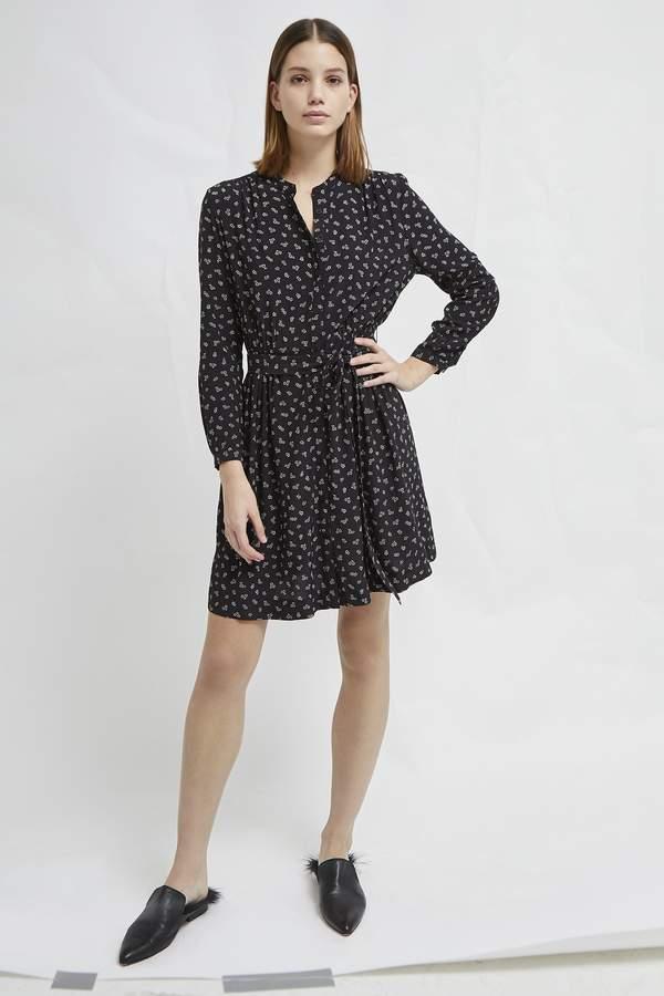 Buy Elsie Micro Ditsy Drape Belted Shirt Dress!