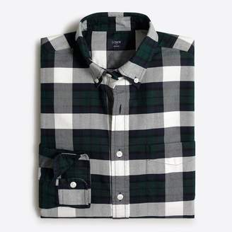 J.Crew Factory Slim plaid oxford shirt