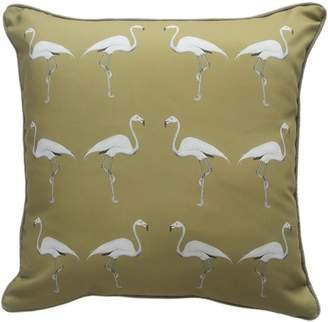 Dwelling Bird - Flamingo Cushion Olive