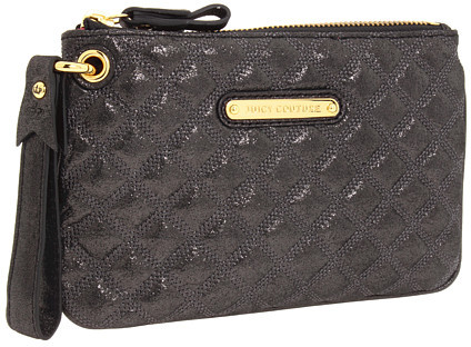 Juicy Couture Quilted Shimmer Leather Wristlet