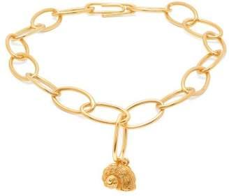 Aurelie Bidermann Twist Seashell Charm Gold Plated Anklet - Womens - Gold
