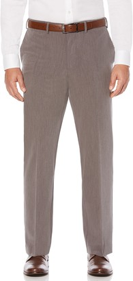 Savane Men's Active Flex 4-Way Stretch Flat Front Dress Pant