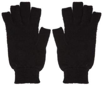 Rick Owens Black Fingerless Gloves