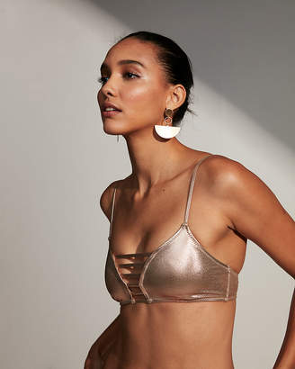 Express Metallic Strappy Triangle Bikini Top