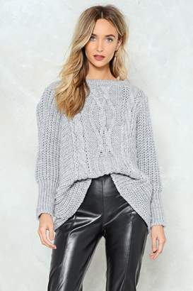 Nasty Gal Rumor Has Knit Oversized Sweater