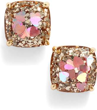 Kate Spade Glitter Small Square Stud Earrings