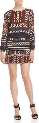 Desigual Mixed Print Shift Dress