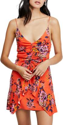 Free People Happy Heart Floral Fit--Flare Mini Dress