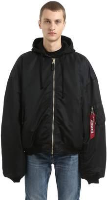 Vetements Oversized Reversible Nylon Bomber Jacket