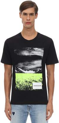 Calvin Klein Jeans Printed Cotton Jersey T-shirt