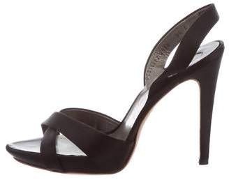 Salvatore Ferragamo Satin Slingback Sandals