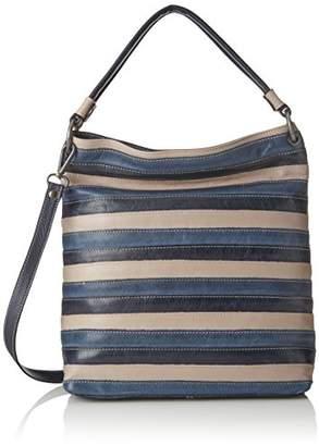 Think! Tasche_282814, Women's Shoulder Bag, Blau (Navy/kombi 88), 12x35x33 cm (B x H T)