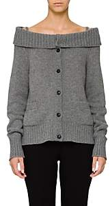 Prada Women's Off-The-Shoulder Wool-Cashmere Cardigan - Gray