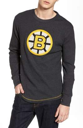American Needle Boston Bruins Embroidered Long Sleeve Thermal Shirt