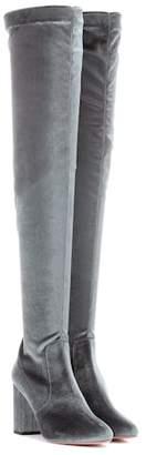 Aquazzura So Me 85 velvet boots