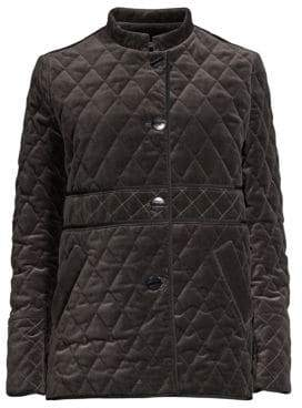 Jane Post Quilted Velvet Jacket