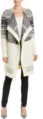 NYDJ Fairisle Cascade Wool-Blend Cardigan