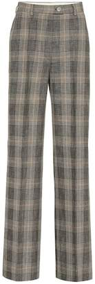 Acne Studios Checked wool and cotton pants