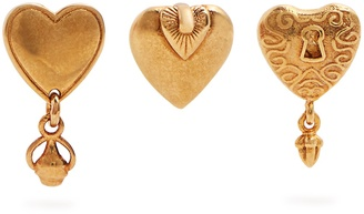 Collected Hearts set of three earrings