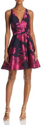 Aqua Floral Brocade Dress - 100% Exclusive