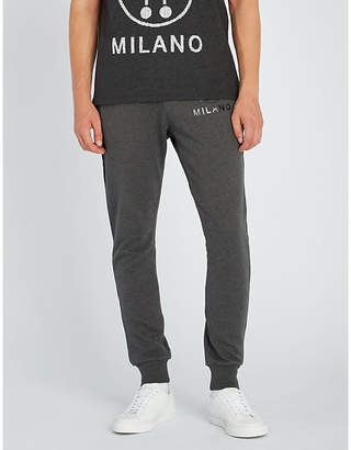 Moschino Logo-print cotton-jersey jogging bottoms
