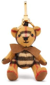 Burberry Thomas Bear Backpack House Check Cashmere Keyring - Womens - Brown Multi