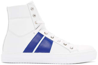 Amiri White and Blue Sunset High-Top Sneakers