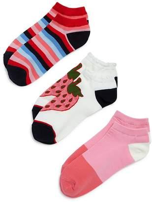 Kate Spade Strawberry Ankle Socks, Set of 3