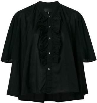 Nili Lotan ruffle detailed shortsleeved shirt