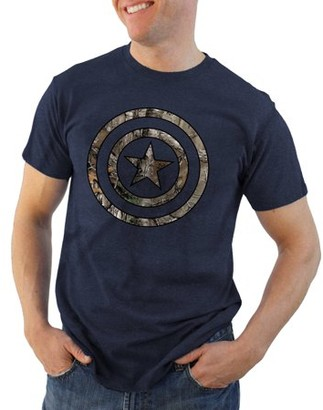 Super Heroes & Villains Captain America filled icon realtree logo Big Men's graphic tee, 2xl