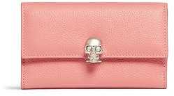 Alexander McQueen Alexander McQueen Skull clasp leather French wallet