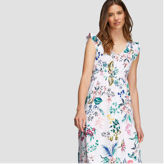 Joe Fresh Women's Floral Ruffle Sleeve Dress