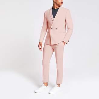 Mens Pink skinny suit jacket