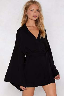 Nasty Gal Along for the Wide Wrap Dress