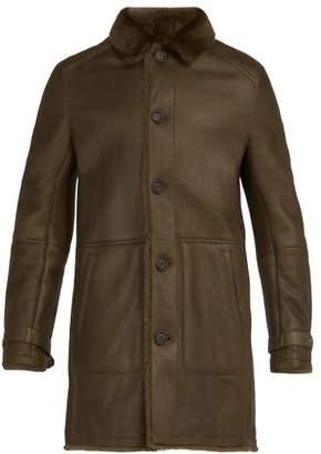Yves Salomon Reversible Shearling Coat - Mens - Khaki