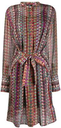 Paul Smith geometric print shirt dress