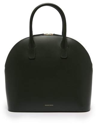 Mansur Gavriel Top Handle Leather Bag - Womens - Dark Green