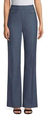 St. John Stretch Cotton Flared Pants