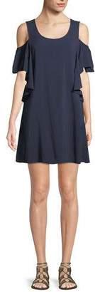 MICHAEL Michael Kors Cold-Shoulder Ruffle Coverup Dress
