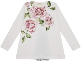 MonnaLisa Rose Print Tunic Top