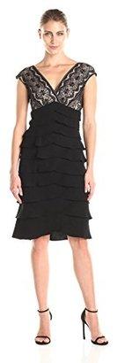 Jessica Howard Women's Extended Shoulder Surplus Bodice with Artichoke Skirt $99.99 thestylecure.com