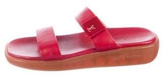 Louis Vuitton Leather Strap Slide Sandals