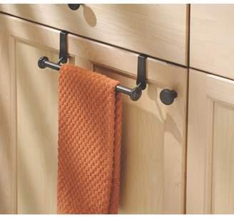 InterDesign York Over-the-Cabinet Kitchen Dish Towel Bar Holder, Bronze
