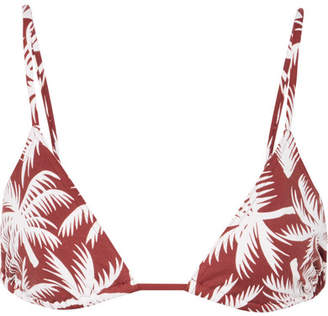 Eres Mouna Printed Triangle Bikini Top - Brick