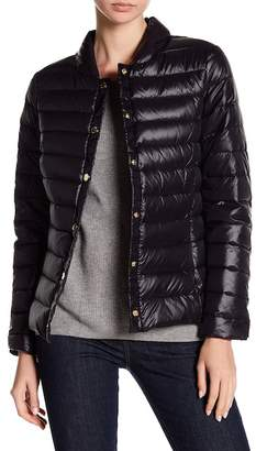 Via Spiga Snap Front Packable Jacket